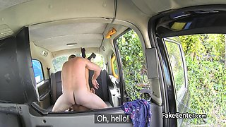 Fake driver got massage,blowjob and tight pussy