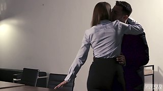 Big tittied cougar Brooklyn Chase is having crazy sex in the office