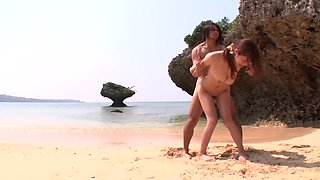 Crazy Japanese slut Natsumi Shiraishi in Incredible bikini, beach JAV clip