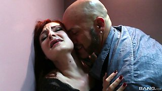 Gagged redhead dominated in brutal XXX home scenes