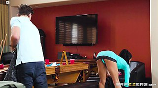 Kira Noir uses her extremely tight body to seduce a friend's boyfriend