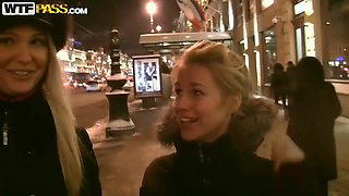 Blonde Mayola gets picked up at the bar and seduced by hot stud