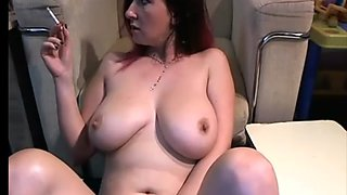 MILF with Big Titties Hanging out Smoking