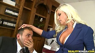 Busty Blonde Office Slut Britney Amber Voodoo Gets Fucked and Jizzed