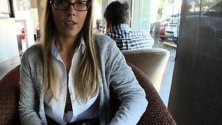 Amateur teen flashing and public nudity of blonde