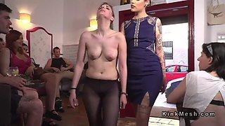 demure slave disgraced in public