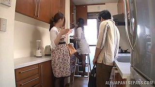 Dashing Japanese babe with a nice ass gets her pussy fingered then screwed hardcore