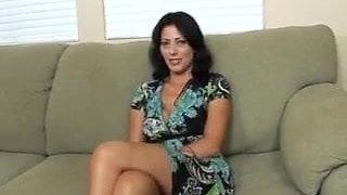 Hot Brunette Cougar Zoey Holloway Bangs Hard