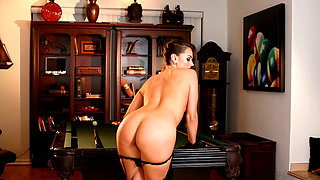Spicy Temptress Tori Black Wants To Play A Game With You On Top Of The Pool Table