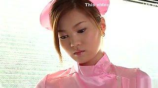Erika Kurisu, Asian teen is a sexy nurse getting banged
