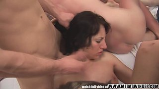 OMG! You have to check out this huge swinger group sex party!