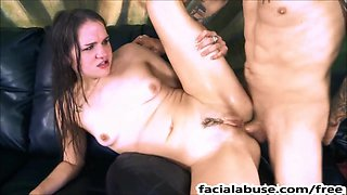 Emo cutie Cat Morris throat and ass fucked hard