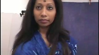 Just a very cute Indian milf with freaky clitoris pleases mature man