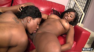 Bella in Ebony Star And Bella Try Out Lesbian Experiments - Wankz