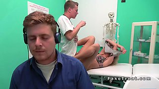 blonde cheating bf with doctor