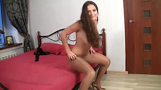 sexy young lady pantyhose tease
