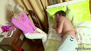 Sister Seduce Step-Bro to Get First Fuck and Lost Virgin