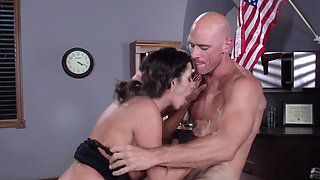Sexy tootsie Ariella Ferrera and strict boss Johnny Sins fuck
