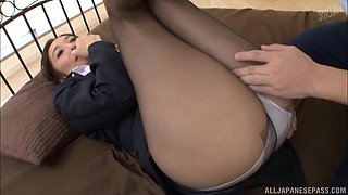 Horny guy attacks hot babe Otowa Ayako for a great plowing game