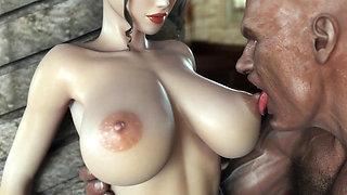 Princesa y esclavo 3d