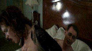 Paz de la Huerta completely naked as she rides a guy on a