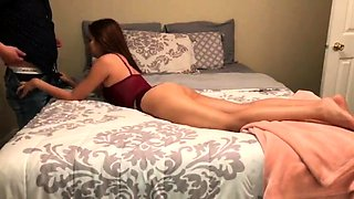 Sexy slender beauty uses her amazing skills to please a cock
