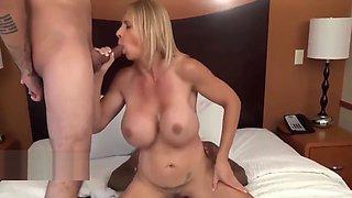 Threesome With Big-tits Busty Milf