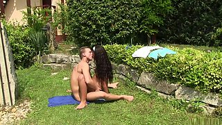 Incredible pornstar Vivien Bell in amazing brazilian, outdoor sex clip