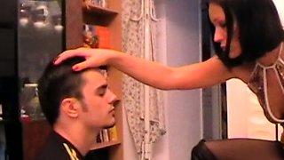 turkish Mistress slapping her slave