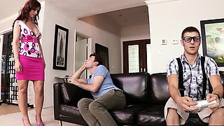 Brazzers - Mommy Got Boobs - While Sons Away