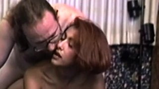 Young retro amateur butt fucked by older guy