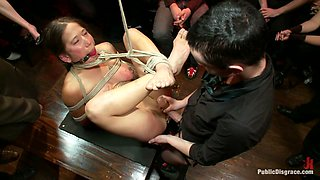 Hot Amateur Squirter Does Her First Boy/Girl Sex Scene Ever And Cums In Front Of A Large Crowd - PublicDisgrace