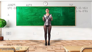 Undress the teacher with X-Ray Glasses. VR by Jeny Smith