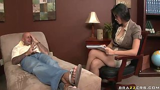 Seductive Therapist Cure Her Patient By Titty Fucking Him