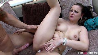 Busty torrid hottie Lara Jade Deene gets fucked doggy style well