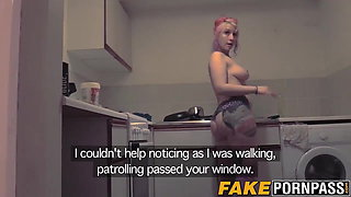 Sexy shick seduces a police officer into fucking her cunt