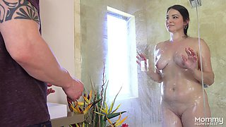hot milf in the shower