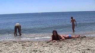 Agnessa & Carla & Leila in sexy student girl enjoys an outdoor orgy