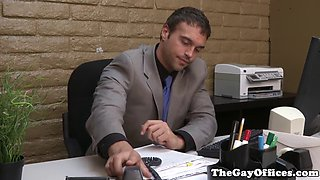 office muscle assfucked before cumming
