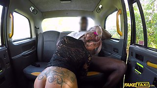 Interracial fucking in the back of the taxi with Brooke Jameson