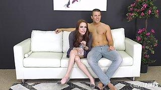 Anna De Ville covered in semen after shagging a handsome lover