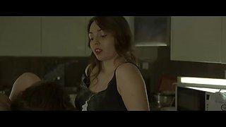 spanish miriam prado dominates her man and fucks him in a kitchen