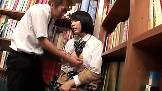 Sweet Asian teen gets pumped full of cock in the library