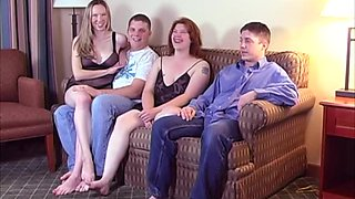 A fun get together turns into a partner swapping swingers party