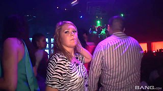 Perverted chick go wild in the disco club