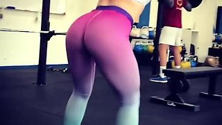 Alma in the gym