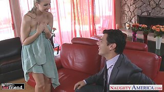 Dude can't say no to completely naked wife's friend Julia Ann