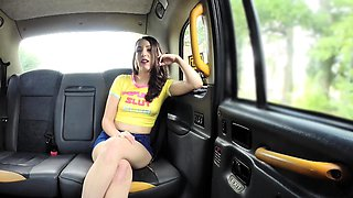 Fake Taxi Olive skin brunette gets fucked on car bonnet