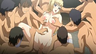 Pregnant hentai girls with big boobs group gangbanged