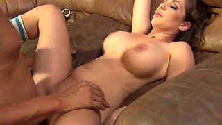 Busty bombshell Kiera King gets her pussy eaten out and fucked hard